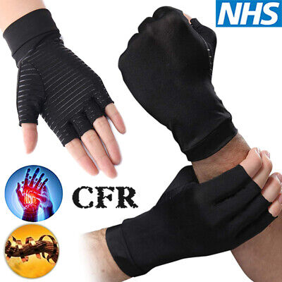 Copper Compression Gloves Hand Support Anti-Arthritic Carpal Tunnel Pain Relief