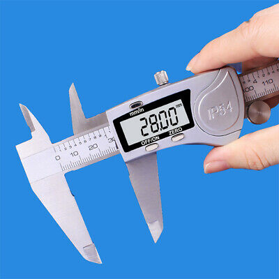 150mm 200mm Measuring LCD Digital Display Calipers Waterproof Vernier Caliper