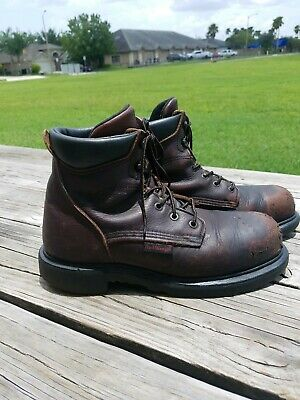 b09ae7cc857 RED WING USA Made Mens 9 D 42 Leather Steel Toe Work Boots 2406 ...