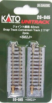 KATO N SCALE 20-045 62mm SNAP TRACK CONVERSION  TRACK 2 pcs pack