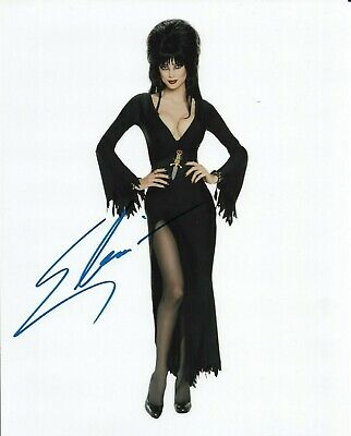 "ELVIRA ""Mistress of the Dark"" Autographed 8 x 10 Signed Photo HOLO COA"