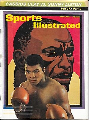 Sports Illustrated 1965 CASSIUS CLAY Sonny Liston MUHAMMAD ALI Boxing NO LABEL