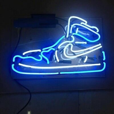 """New Sport Shoe Sneaker Boot Beer Pub Acrylic Neon Light Sign 14"""" Real Glass Lamp"""