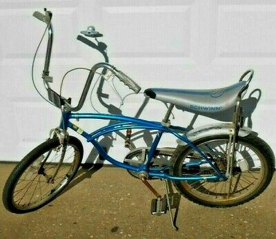 914dfa975c2 Vintage Schwinn Stingray Bicycle Blue 1979 J38-8 3-speed coaster Nice  UnRestored