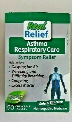 Real Relief Asthma Respiratory Care Symptom Relief 90 Chewable Tablets