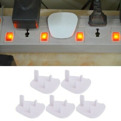 5Pcs Baby Kid Socket Cover Child Protector Guard Mains Point UK Power Plug New