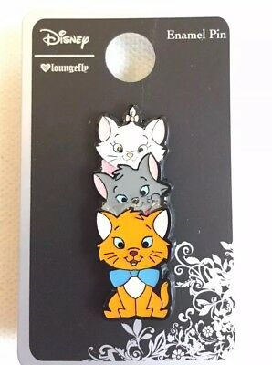 Disney Loungefly The Aristocats Marie Toulouse & Berlioz Enamel Pin