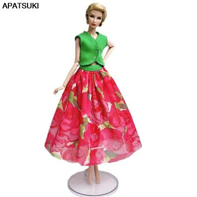"Fashion Countryside Floral Clothes For 11.5"" 1/6 Doll Clothes Outfits Vest Skirt"