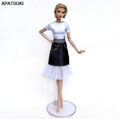 "Fashion Doll Clothes For 11.5"" Doll 1/6 Outfits Party Gown Top Shirt Denim Skirt"