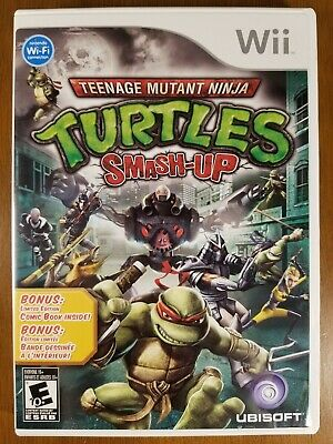Teenage Mutant Ninja Turtles: Smash-Up (Nintendo Wii, 2009) Complete w/ comic