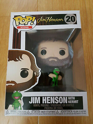 Funko Pop! Icons: Jim Henson with Kermit #20 - Brand New!