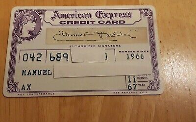 Vintage American Express Purple Centurion Era Credit Card 1967 bank card charge