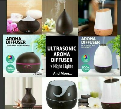 100/300/400/500ml Ultrasonic Air Humidifier Purifier Aroma Diffuser Aromatherapy
