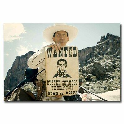 The Ballad of Buster Scruggs 12x18 24x36inch Movie Silk Poster Wall Decoration