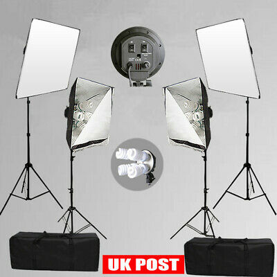 3600W Studio 8X 4 HEAD Softbox Continuous Lighting Light Stand KIT Photography