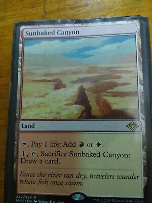 Sunbaked Canyon Modern Horizons Magic The Gathering MTG Rare NM/M