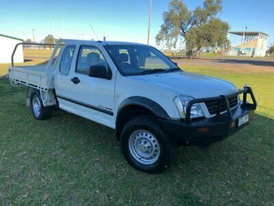 2005 Holden Rodeo RA MY05.5 Upgrade DX (4x4) White Manual 5sp M Cab Chassis