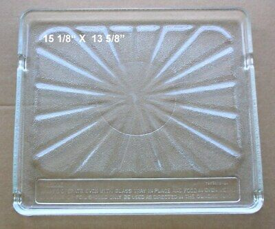 Recycled Microwave Oven Glass Plate / Tray 15 1/8 X 13 5/8""