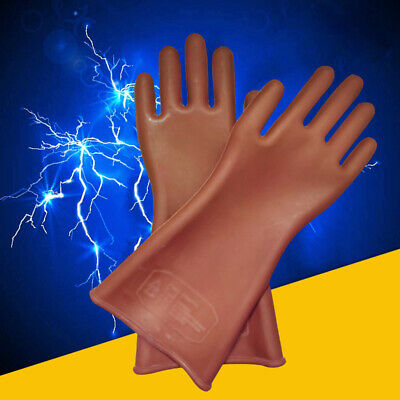 High Voltage Insulated Electrical Gloves Soft Latex Rubber Safety Protective