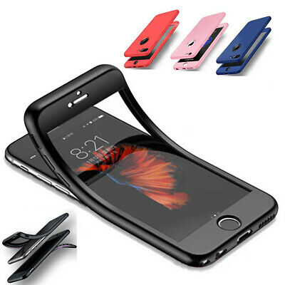 iPhone XR XS Max 7 8 Plus SE Full TPU Shockproof Silicone Protective Case Cover