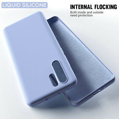 Liquid Silicone Case For Huawei P30 Pro P20 Lite P10 Simple Color Soft Cover