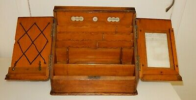 Victorian Oak Writing Correspondence / Stationary Box (c775)