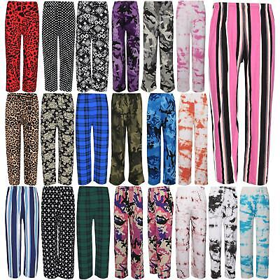 Kids Girls Palazzo Flared Wide Leg Pants Baggy Legging Loose Summer Trouser 7-13