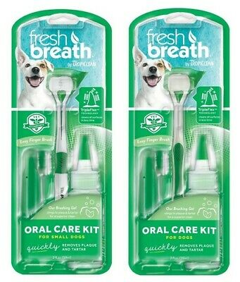 TropiClean Oral Care Kit for Dogs and Small Dogs 59ml Dental Health Natural