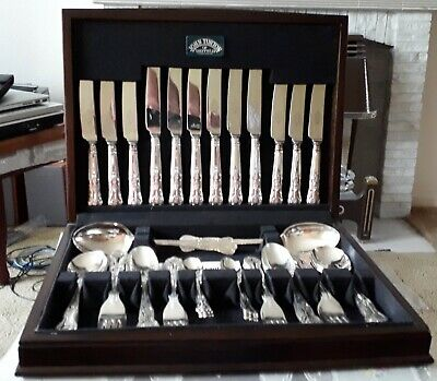 44 Piece Silver Plate Cutlery Set, John Turton of Sheffield