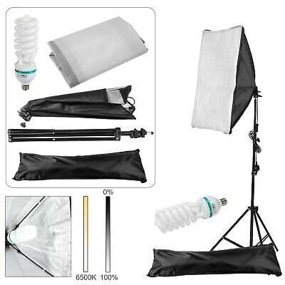 Photography Studio 135W Softbox Continuous Lighting Stand Kit Photo Video UK