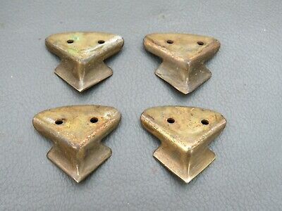Set of 4 vintage brass clock or box feet spares parts