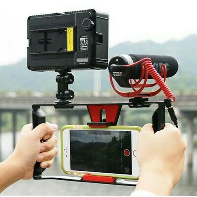 "Handheld Video Camera Cage Stabilizer Mount Film Making Rig for 4~7"" Smart Phone"