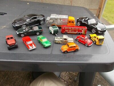 Job Lot Of 13 Assorted ,Used,Mint/Unboxed Cars No.9-(Spares Or Repairs)-Unboxed-