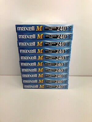 x 10 Maxell Blank Video Cassette M240  Brand New Sealed CCTV VHS 4 Hours