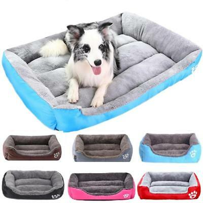 Medium Extra Large Dog Pets Cat Bed Soft Washable Fleece Cushion Warm Pet Basket