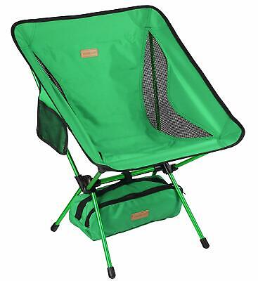 Portable Camping Chair - Compact Ultralight Folding Backpacking Chairs, Green