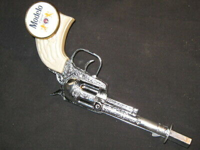 beer tap handle old western six shooter modelo