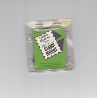 S GIBBONS Gard Black Stamp Cut-to-Size Mounts 30mm x 35mm Part pack of 33/40