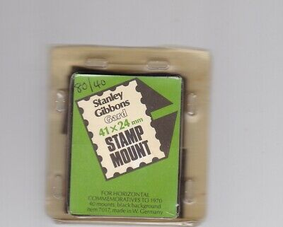 S GIBBONS Gard Black Stamp Cut-to-Size Mounts 41mm x 25mm 2 packs in 1 80/40