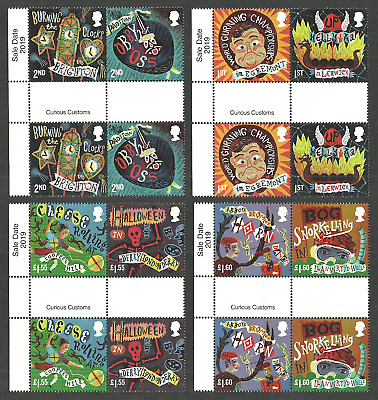 Gb 2019 Curious Customs Halloween Bog Snorkelling Gutter Pairs Set Mnh