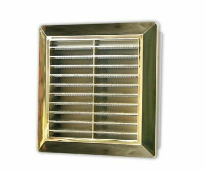 Matt Gold Air Vent Grille 174mm x 174mm with Fly Screen 00603