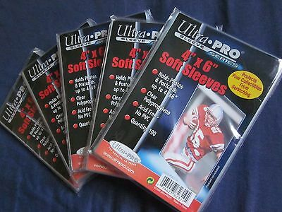 500 New Ultra Pro 4x6 Soft Sleeves Photo, Postcard, Sportscards Free Shipping