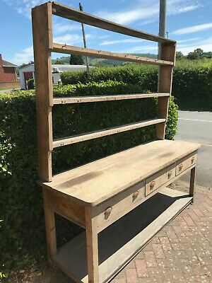 Substantial Antique Early Victorian Very Large Pine, Pot Dresser for restoration