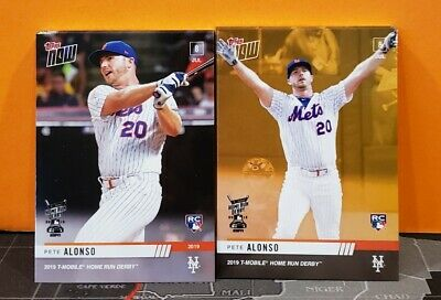 2019 Topps NOW Pete Alonso Mets Home Run Derby HRD-2 + BONUS WINNER Card HRD-2B