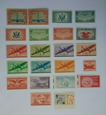 US Airmail 1928-1959 mint stamps