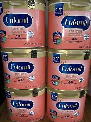 6 big cans Enfamil AR 21.5 oz - FAST Shipping