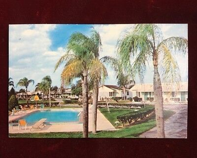 Vintage AAA postcard / Tower View Motel / Lake Wales, Florida