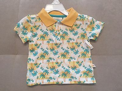 Baby Boy Rosie Pope Baby Polo Shirt Size 12 Month Yellow Troppical
