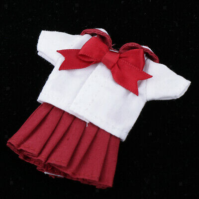 Fashion Doll Clothes Outfit Uniform Fits for Obitsu11 Dolls Accessory Red