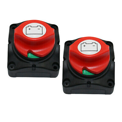 2 Packs 400A Battery Disconnect Cut On/Off Rotary Switch Car Boat RV Switch